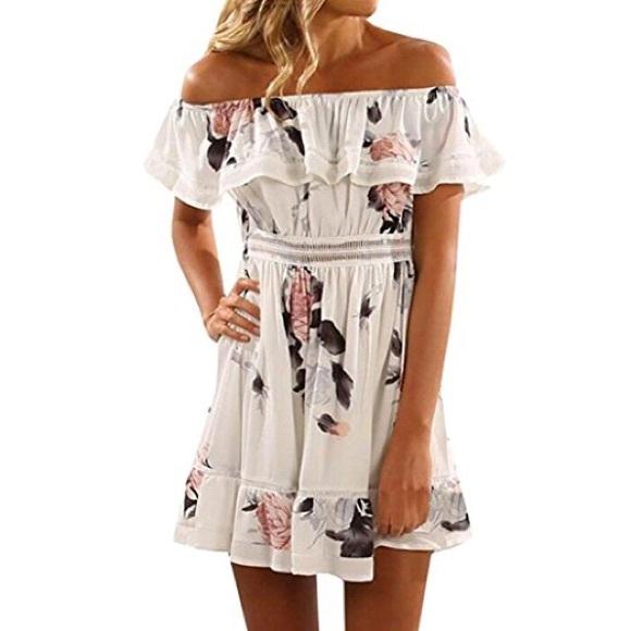 fd4cbb3231c Howstar Dresses   Skirts - Off Shoulder Floral Dress